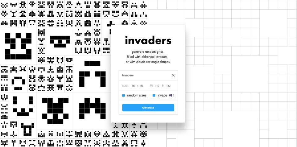 Плагин Invaders для Figma