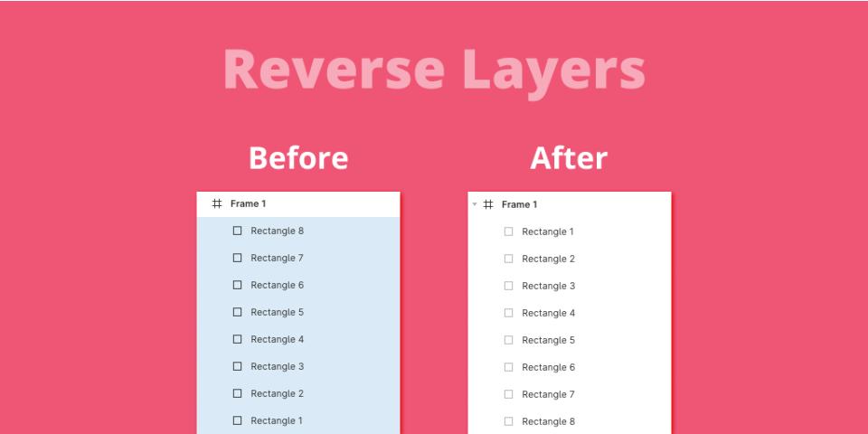 Плагин Reverse Layers для Figma