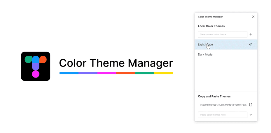 Плагин Color Theme Manager для Figma