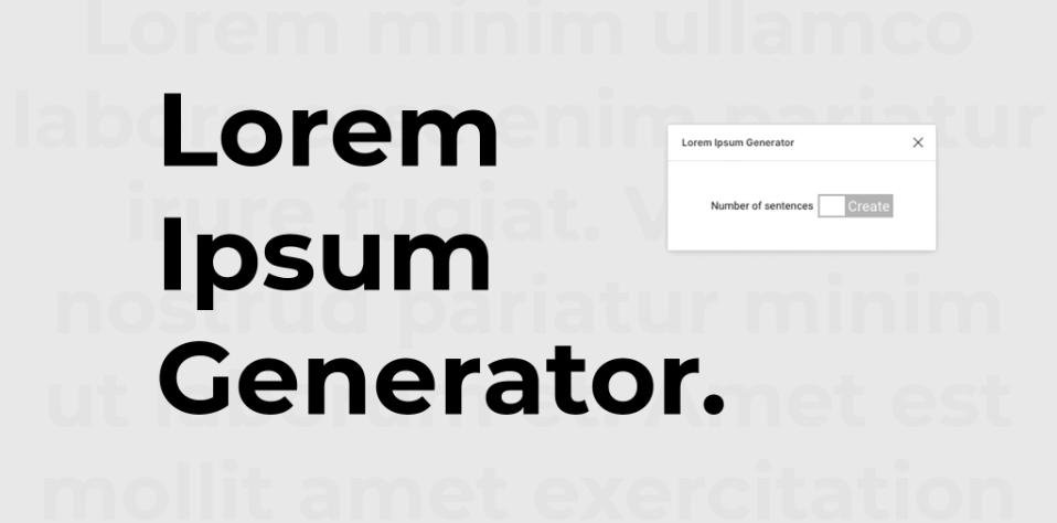 Плагин Lorem Ipsum Generator для Figma