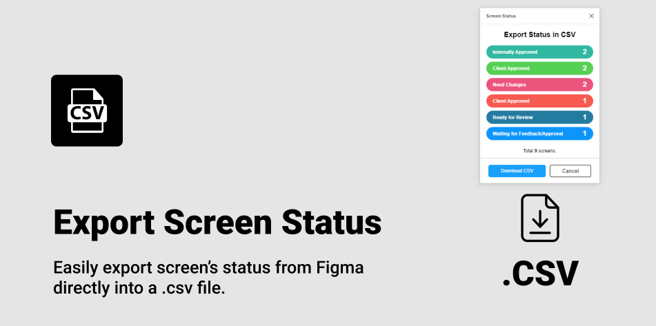 Плагин Manage Screen Status для Figma
