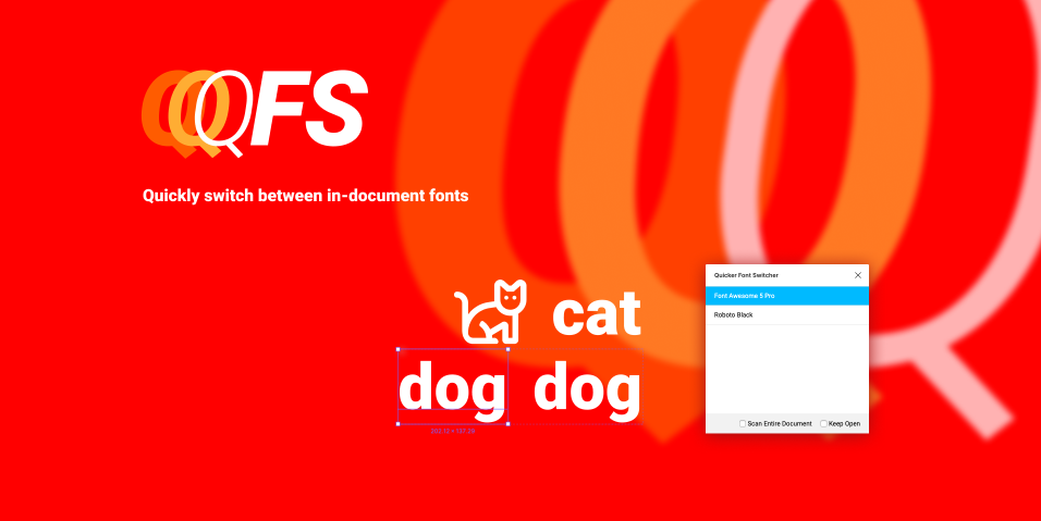 Плагин Quicker Font Switcher для Figma