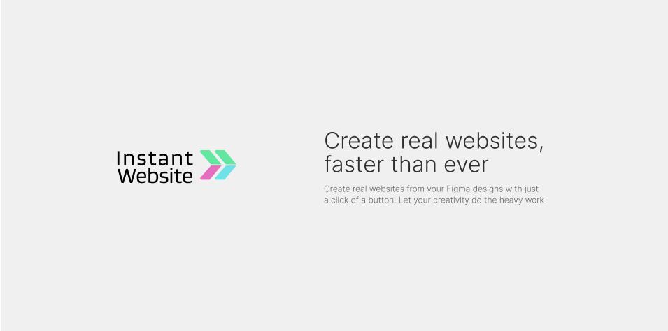 Плагин Instant Website Beta для Figma