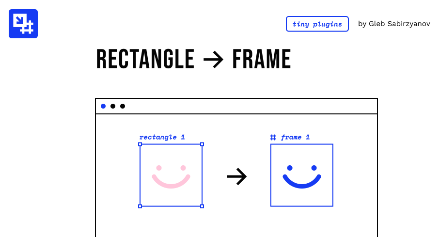 Плагин Rectangle to Frame для Figma