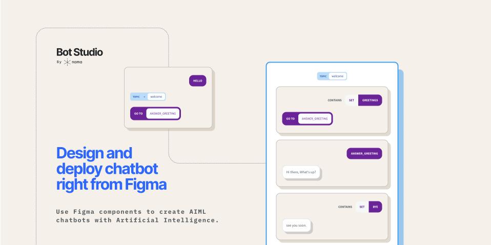 Плагин Nama Bot Studio для Figma