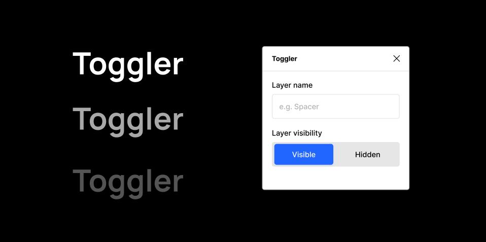 Плагин Toggler для Figma