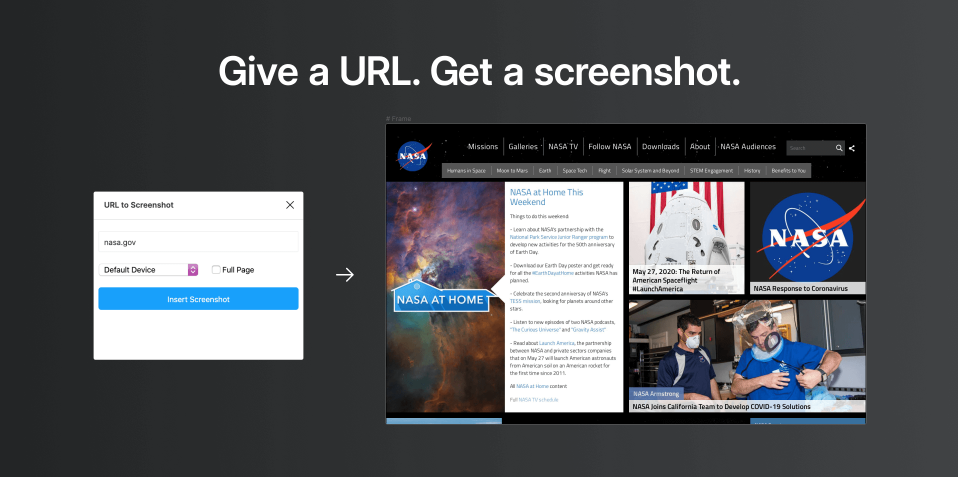 Плагин URL to Screenshot для Figma