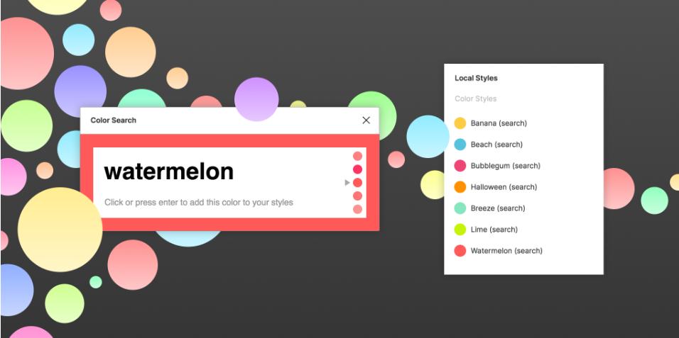 Плагин Color Search для Figma