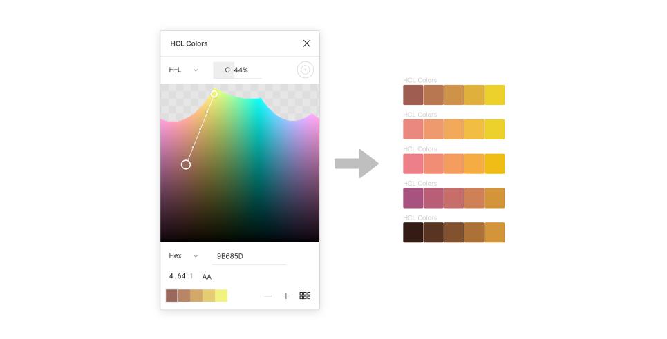 Плагин HCL Colors для Figma