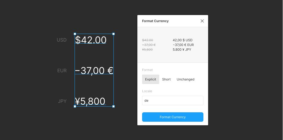 Плагин Format Currency для Figma
