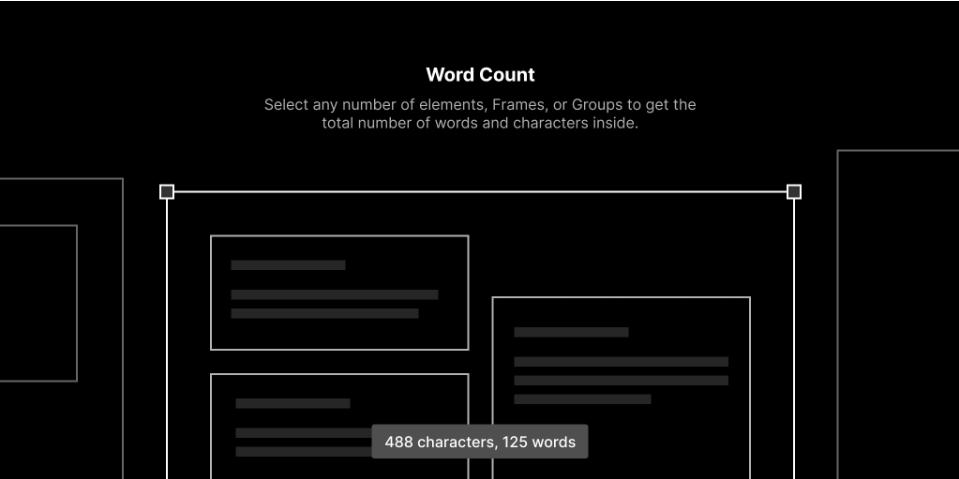 Плагин Word Count для Figma