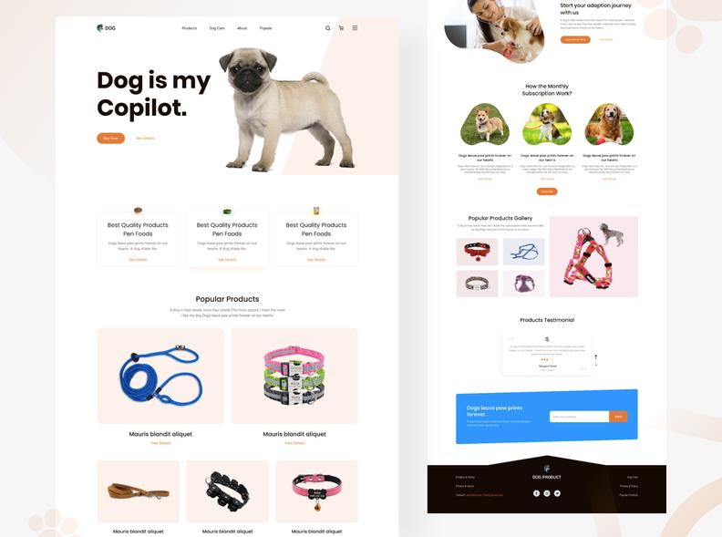 Шаблон сайта Dog Product для Figma