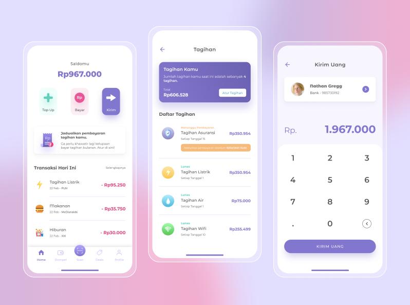 Шаблон E-Wallet mobile app