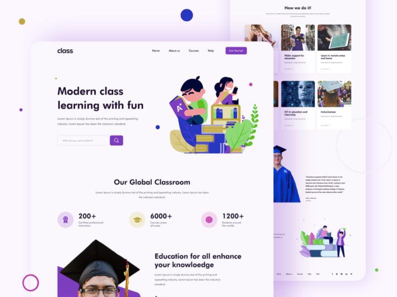 Шаблон Education Platform для Figma