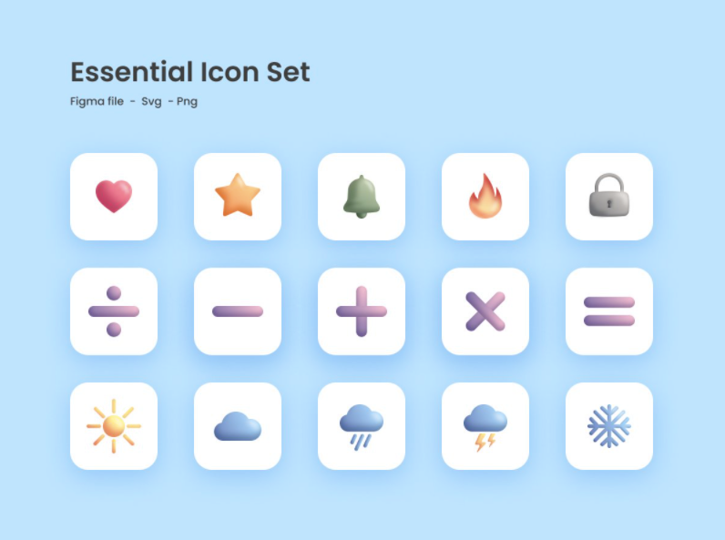 Essential Icon Set