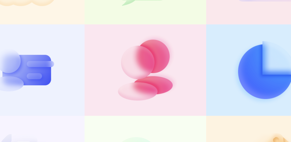 Glass Morphism style icon