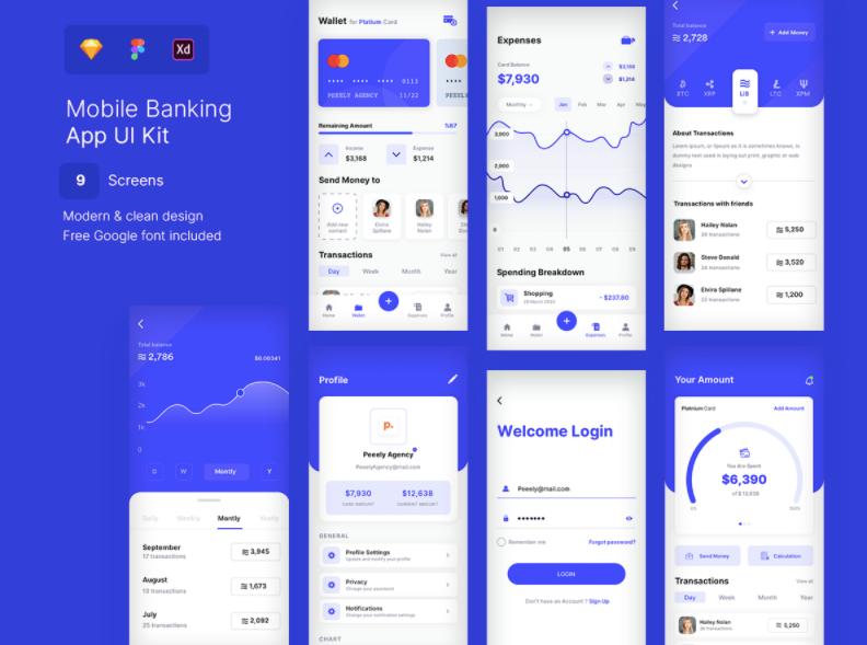 Шаблон Wallet Bank App UI Kit