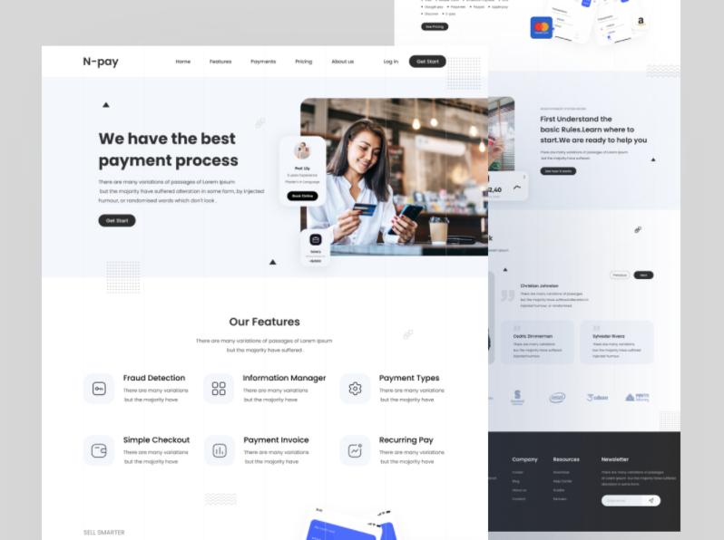 Шаблон N-pay Landing Page для Figma