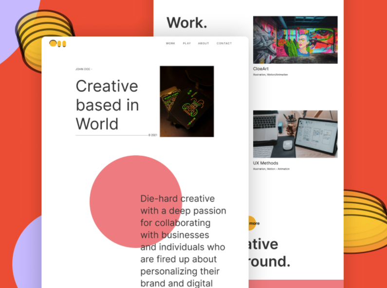 Шаблон Designer Portfolio для Figma