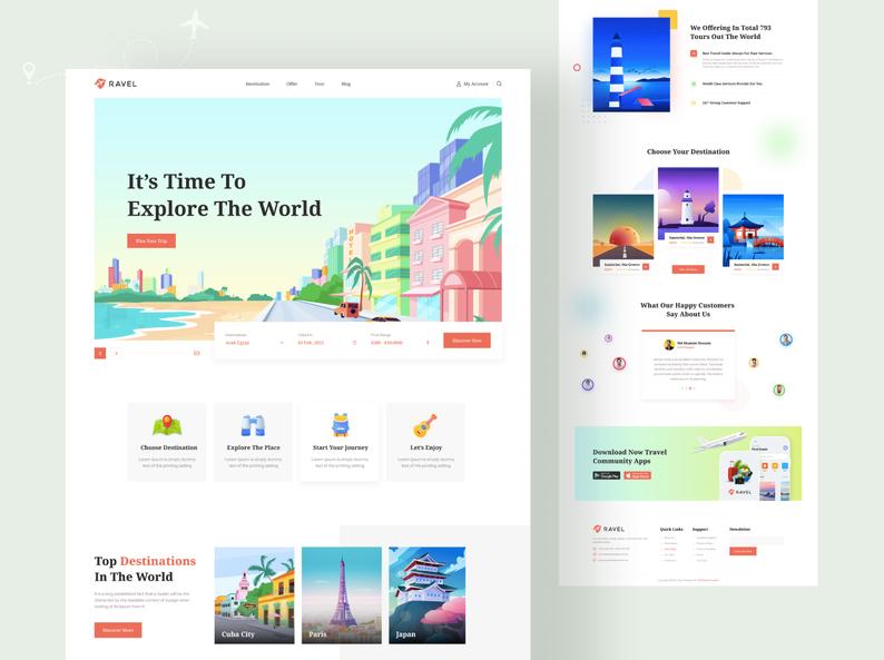 Шаблон Travel Website для Figma