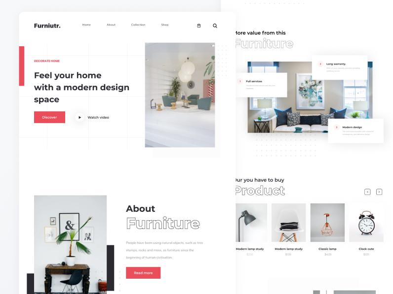 Шаблон Furniture Landing Page для Figma