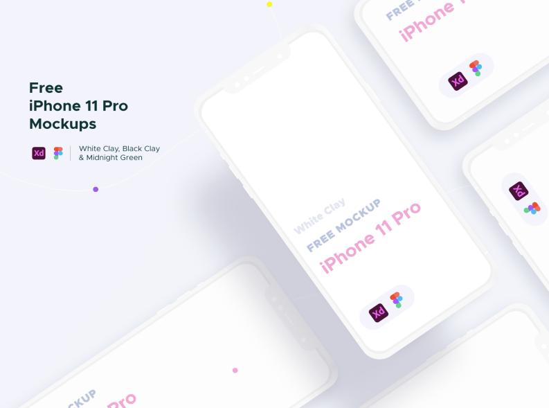 Mockups iPhone 11 Pro для Figma