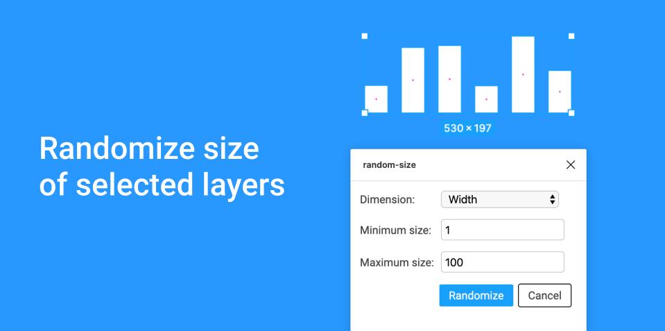 Плагин random-size для Figma