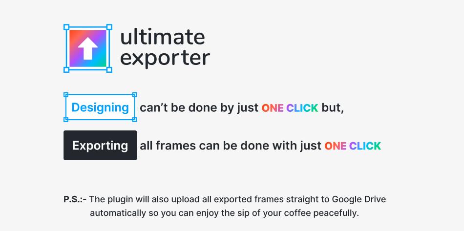 Плагин Ultimate Exporter для Figma