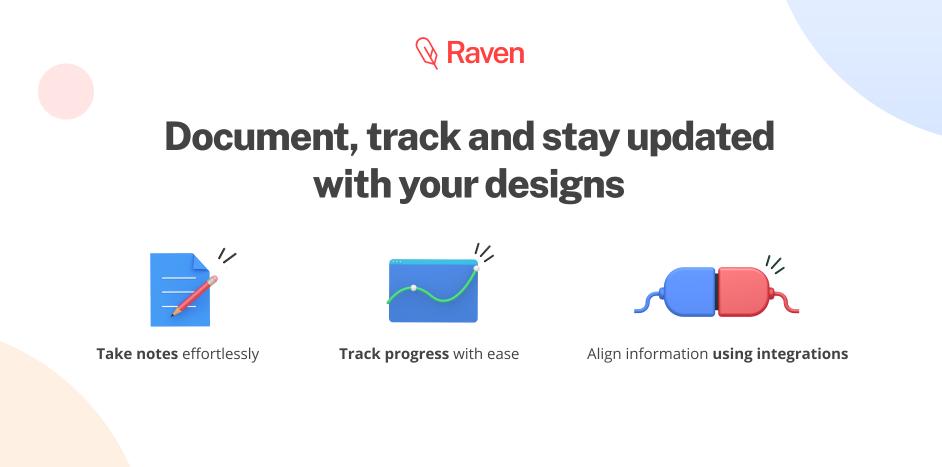 Плагин Raven-Document & Track Designs для Figma