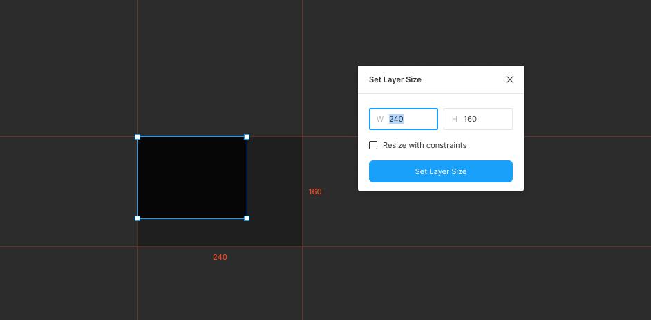 Плагин Set Layer Size для Figma
