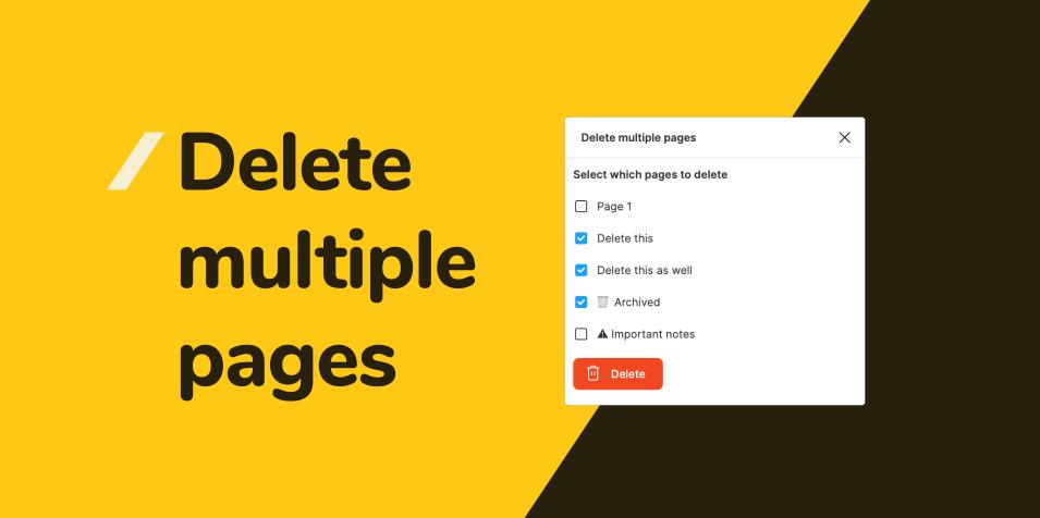 Плагин Delete multiple pages для Figma