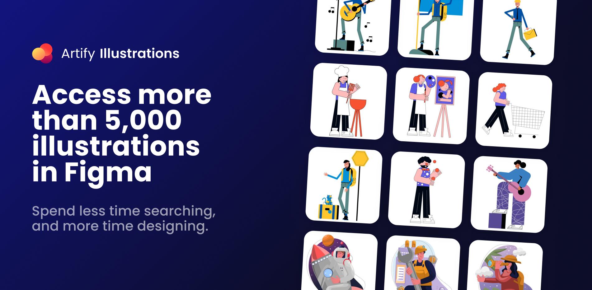 Плагин Artify Illustrations для Figma