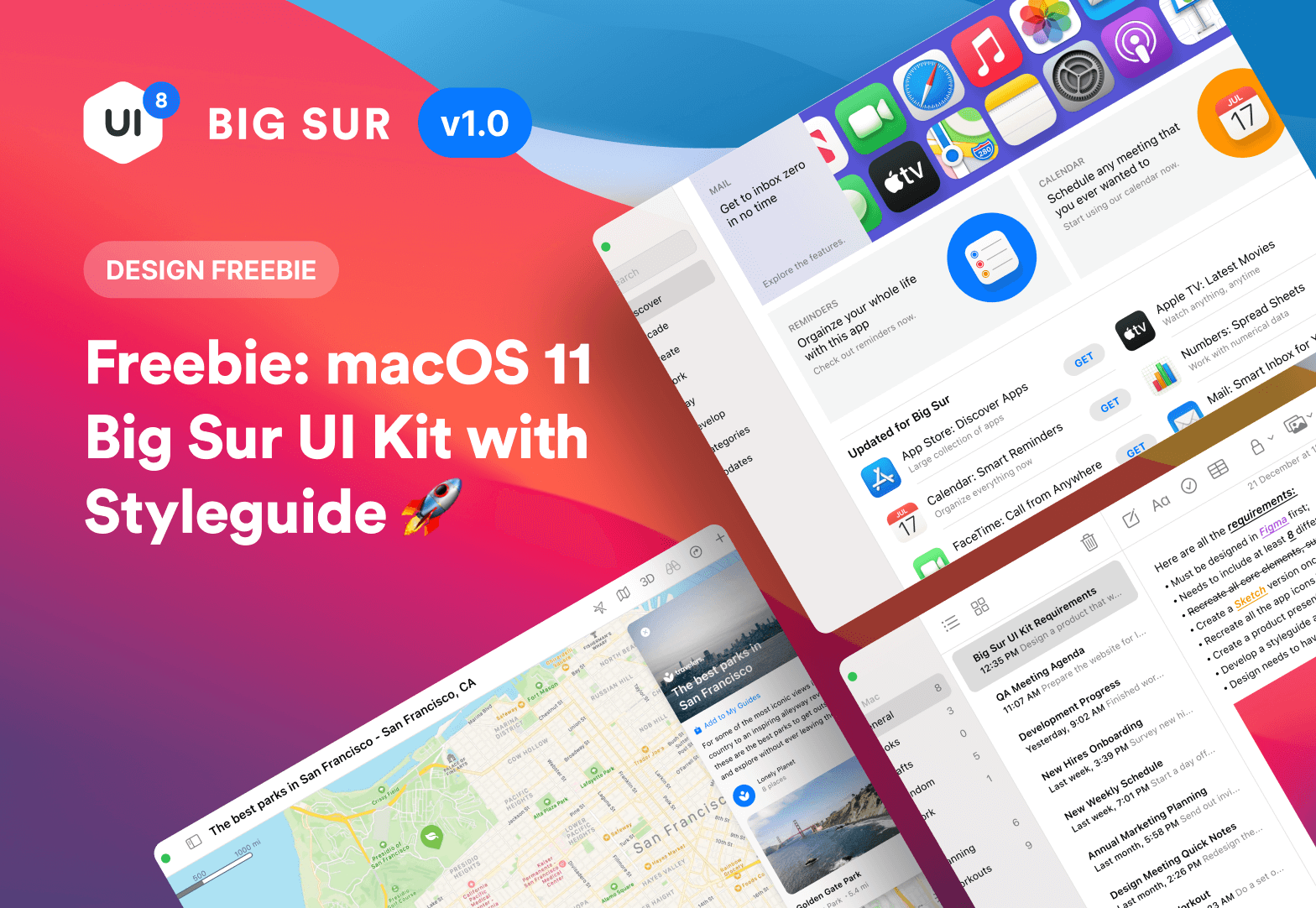 UI Kit MacOS 11 Big Sur для Figma