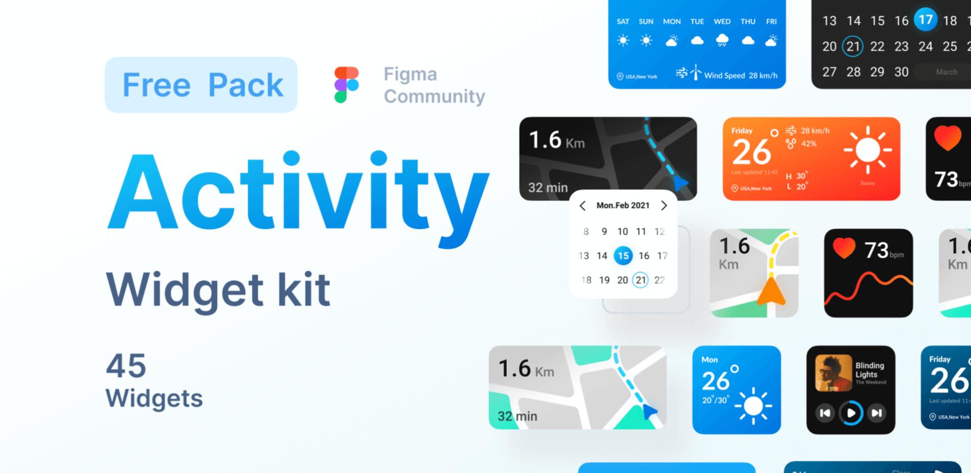 Activity Widget UI Kit для Figma