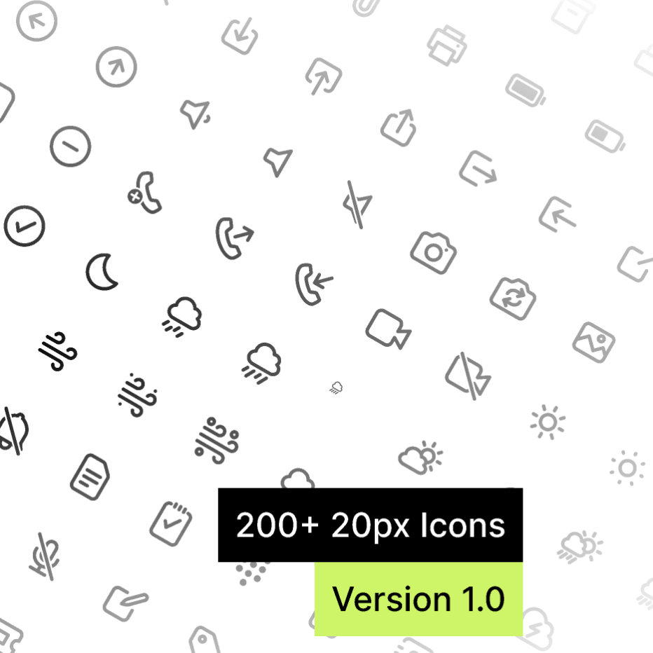 Набор иконок 20px Icons для Figma
