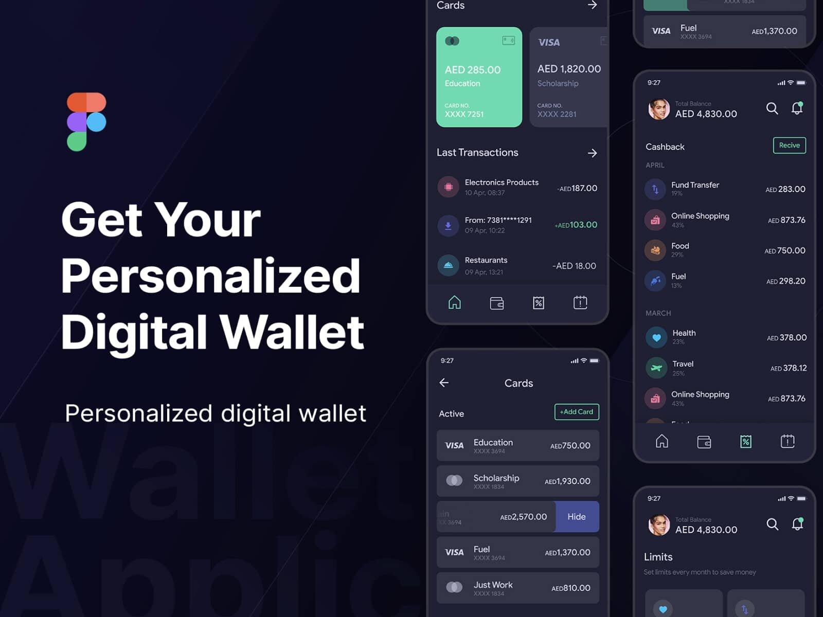 Grow Wallet – Money Management App UI Kit