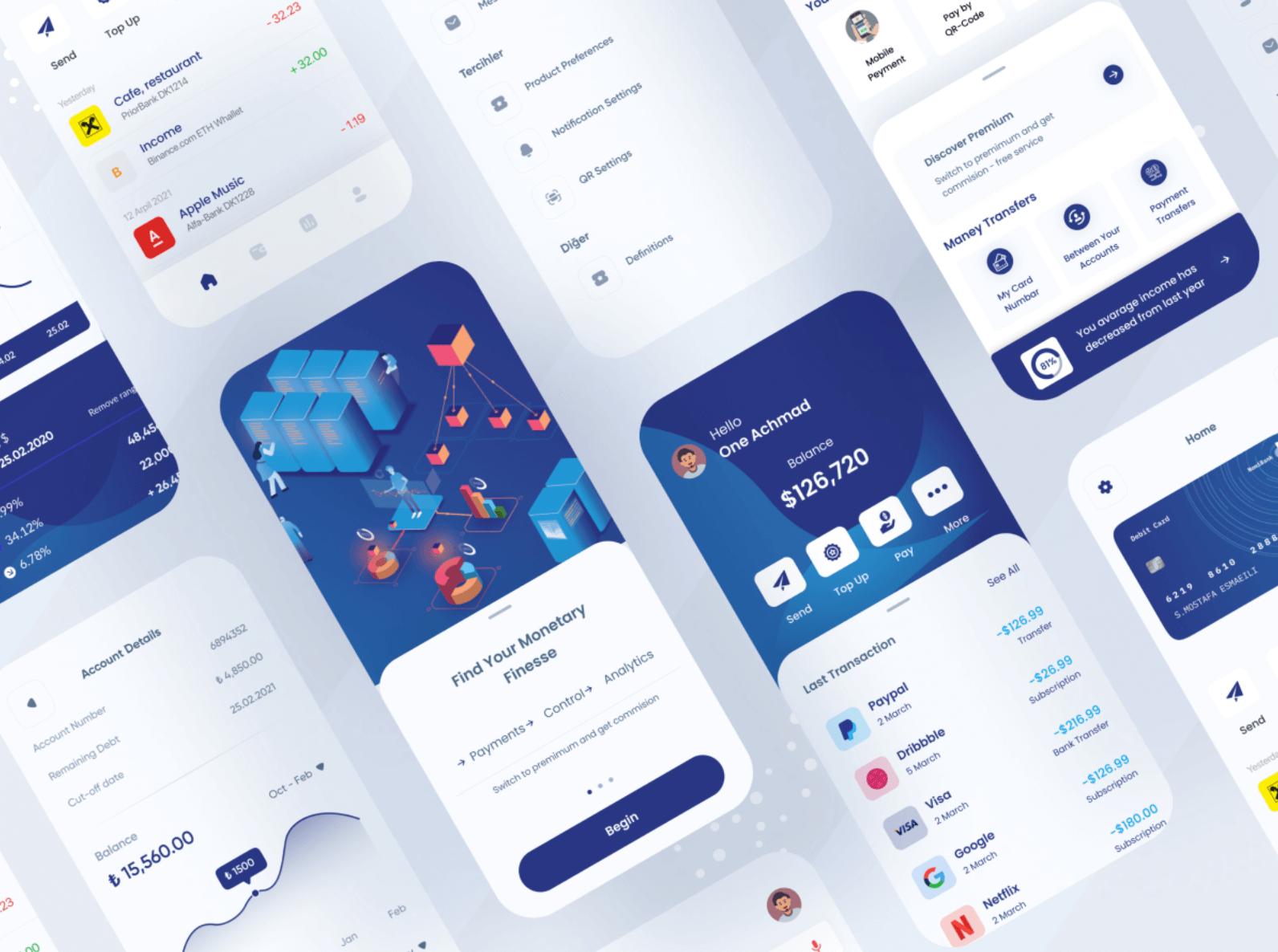 Шаблон Money Transfer App для Figma