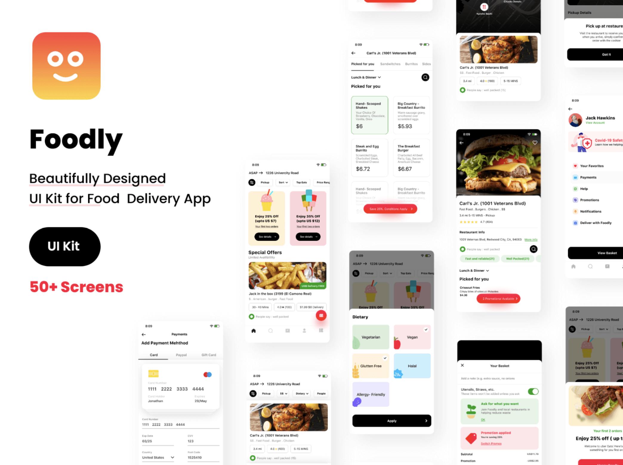 UI Kit Foodly для Figma