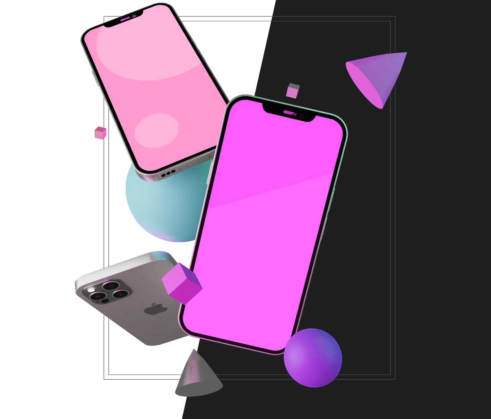 3D mockup iPhone 12 Pro для Figma